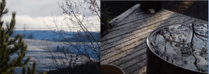 CollageSnowOnPorch&Hill