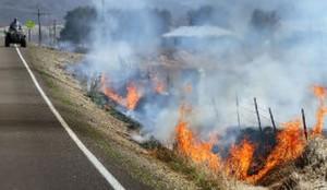 ditch grass burning