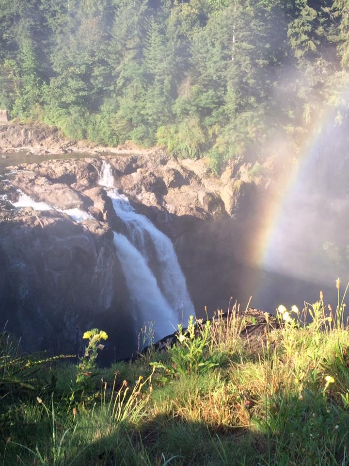 16-Snoqualmie Falls Rainbow by Dawn & Victor Estrella July 2016