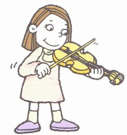 fiddle player cartoon